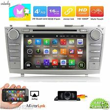 "8"" Android 6.0 Car DVD Player Radio Stereo GPS For Toyota Camry 2007-2011+Cam"