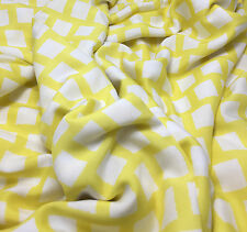 Cotton LAWN Fabric Yellow & White BLOCKS 1/3 yd remnant