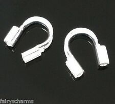 CLEARANCE SALE - 200 Wire Guardian Protectors for Jewellery Silver Plated 5x5 mm