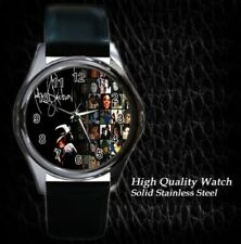 New Michael Jackson MJ Leather Metal Watch