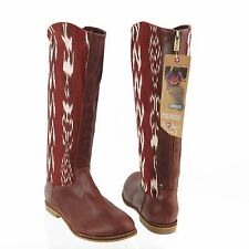 Women's Reef Santa Marta Shoes Brown Embroidered Boots Sz US 9 M EU 40 NEW $180