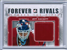 12/13 FOREVER RIVALS JEFF HACKETT BETWEEN THE PIPES JERSEY SILVER /30 MONTREAL