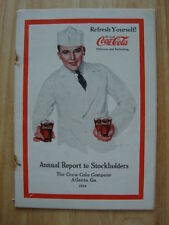 1923 Coca-Cola Coke Annual Report Warren Buffett Berkshire Hathaway
