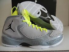NIKE AIR JORDAN 2012 DELUXE WOLF GREY-BLACK-SILVER ICE-WHT SZ 10.5 [484654-001]