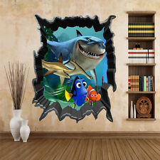 Lovely Finding Nemo Dory Bruce 3D View Art Wall Stickers Decals Mural Home Decor