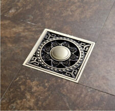 Antique Brass Square Shower Floor Drain Free shipping