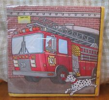 16 FIRE ENGINE FIRE TRUCK LUNCHEON PARTY NAPKINS, Unique