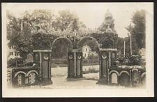 1930s RP POSTCARD WEST BEND IA IOWA GROTTO OF REDEMPTION ENTRANCE ARCH GATE SE