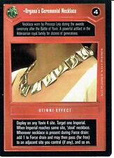 Star wars ccg premiere bordure noire rare organa's ceremonial collier