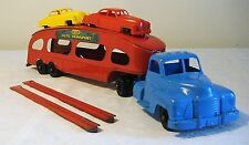 Marx Ford Cab DELUXE AUTO TRANSPORT Car Carrier TT Truck w/ Cars 40s V RARE MINT