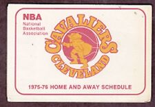 1975-76 CLEVELAND CAVALIERS NBA BASKETBALL POCKET SCHEDULE FOREST CITY