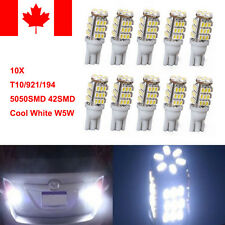 10X T10/921/194 Car LED Xeno White 42SMD Bulbs W5W RV Trailer Backup Reverse