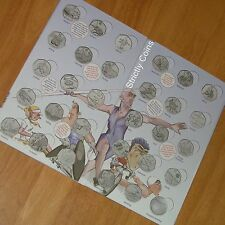 OLYMPIC 50p ALBUM Official Royal Mint Coin Hunt Folder space Completer Medallion