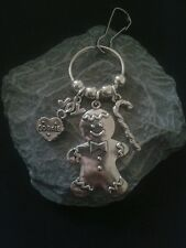 Christmas. Gingerbread Man Key Ring/Bag charm.