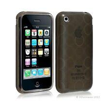 Housse coque etui gel rond transparent pour Apple Iphone 3G/3Gs couleur noir