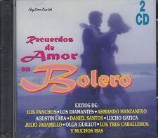 Los Panchos Los Diamantes Agustin Lara Recuerdos De Amor En Bolero 2CD New Nuevo