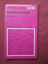 Ordnance Survey 1:50000 1st series   Sheet 92 Penrith and Keswick  paper 1976