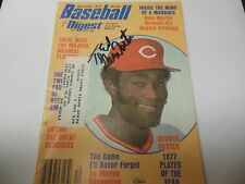 1977 MLB BASEBALL DIGEST MONTHLY MAGAZINE GEORGE FOSTER (AUTOGRAPHED) COPY RARE