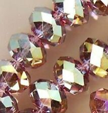 New 70pcs Purple Faceted Crystal Loose Beads Gemstone AB6x8mm