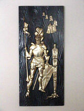 MAD MEN MAN CAVE KNIGHT Mid-Century MODERN MEDIEVAL Modernism,BLACK,GOLD,ART,