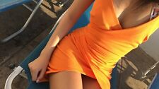 Orange Dress Pretty Little Thing Size 8
