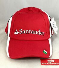 New Mens Puma Santander Scuderia Ferrari Formula One Red White Hat Baseball Cap