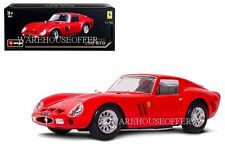 BBURAGO 1:18 ORIGINAL SERIES FERRARI 250 GTO DIECAST CAR MODEL RED 18-16602RD