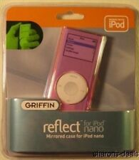 GRIFFIN REFLECT MIRRORED CASE COVER PROTECTOR IPOD NANO 2G 2ND GEN PINK NEW