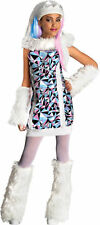 Monster High Abbey Bominable 3 Pc Child Costume Dress & Arm/Leg Warmers L 12-14