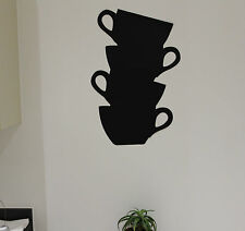 DIY Removable Coffee Cup Memo Chalkboard Blackboard Wall Decal Sticker Art Decor