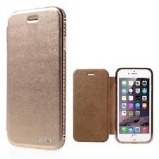 Schutz Tasche Hülle Flip Cover BUMPER f Iphone 6 4.7 LUXUS STRASS ROSE GOLD 94E
