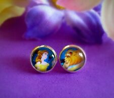 Disney Beauty And The Beast Belle Cute Pair Stud Earrings 10mm