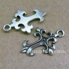 20pc Tibetan Silver Cross Charms Pendant Beads Jewellery Making Wholesale PL326