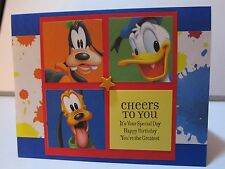 "Homemade ""Cheers to You"" Birthday Handmade Card made with Disney Paper"