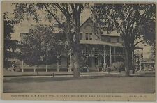 1910 Companies D E & F NY State Soldiers & Saliors Home Bath New York postcard