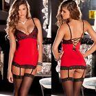 Sexy Lingerie Women Underwear Lace Dress Stockings Babydolls Sets Nightwear