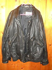 CLUB INTRENATIONAL MENS BLACK LEATHER MOTOR CYCLE STYLE JACKET S L C-measurement