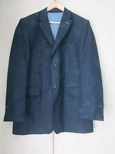 OUTRAGE NAVY PINSTRIPE FRAYED COLLAR EFFECT BLAZER SIZE 42L NEW NO TAGS RRP £75