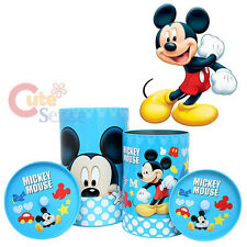"Disney Mickey Mouse Metal Trash Can Set with Top Lids - 4pc Set (12"" & 9.5"")"