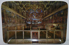 Vintage Tray ROMA Italy CHURCH Jesus Cathedral Miniature Painting