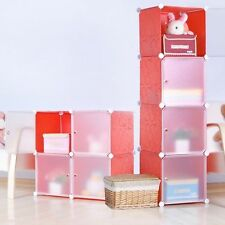 Furniture Bookcase Storage Cabinet Shelf Closet Cube Organizer Red (4) Cubitbox