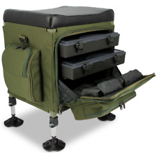 NUOVO Q-DOS sessione SEAT BOX Storage System Carp Fishing Tackle Box Match Da pesca