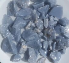 1/4 LB Natural Blue Lightly Tumbled Rough Angelite (Anhydrite) + Free Cab