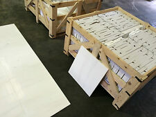 Snow-White 10M2 LOT Polished Wall & Floor Marble Tiles / Travertine / Limestone
