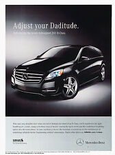 2011 Mercedes Benz R-Class R350  - Original Advertisement Car Print Ad J320