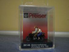 Preiser Motorradfahrer. Zündapp KS 75 28148