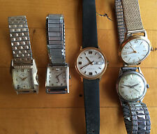 5 VINTAGE MENS WATCHES WRISTWATCHES WITTNAUER LORD ELGIN CARAVELLE NATL TIMEX