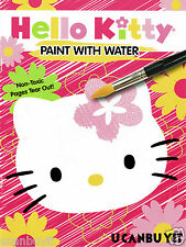 HELLO KITTY Paint With Water Activity Book with Paintbrush & Back Page Poster