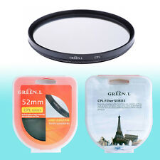52mm CPL Circular Polarizer Filter Lens Protector Auto Focus Camera DSLR NIB