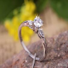 0.5ct creó Diamante Brillante Blanco 18k GP Anillo ** 0134 ** Talla 5.5/K